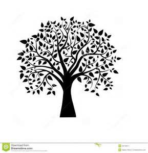 Vector tree in black and white royalty free stock photography image