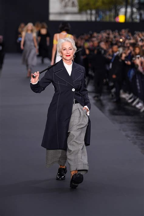 Walking The Catwalk Out Of by Fonda And Helen Mirren Walk L Oreal S Catwalk