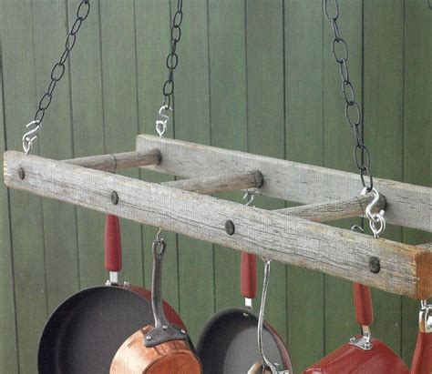 Kitchen Ladder Pot Rack 17 Best Images About New Uses For Things On