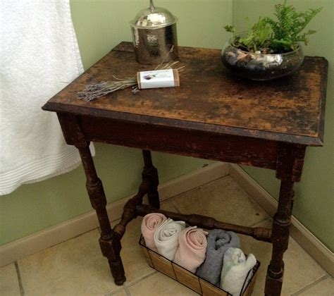Bathroom Accent Table Vintage Rustic Accent Table Naturally Distressed By Time Available On Etsy Sold By Vintage
