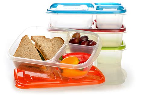 lunch box containers compartmentalized bpa free plastic food storage containers