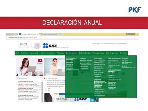 declaracin anual declarasat sat mxico youtube tablas declaracion anual 2015 declaraci 243 n anual 2015