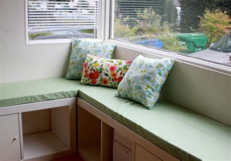 whimsy diy banquette seat with expedit