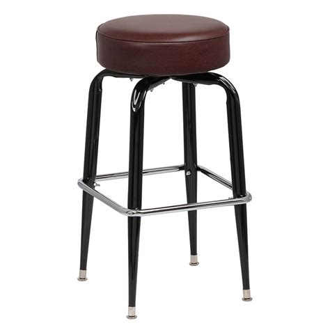 royal industries bar stools royal industries roy 7723 brn black square frame bar stool w standard brown vinyl seat