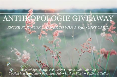 Anthropologie Giveaway - anthropologie giveaway taffeta and tulips