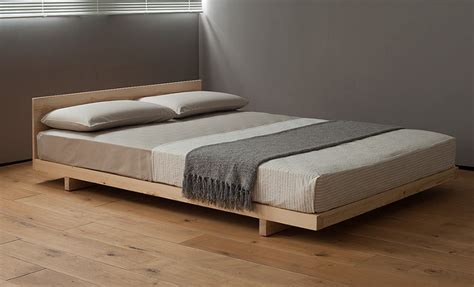 bed in japanese kobe low bed solid wood natural bed company