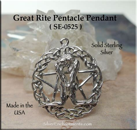 sterling silver celtic great rite pentacle pendant