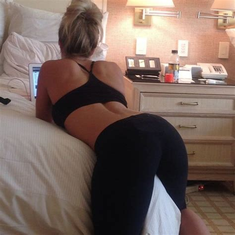 sexy babe laying on the bed in yoga pants girls in yoga
