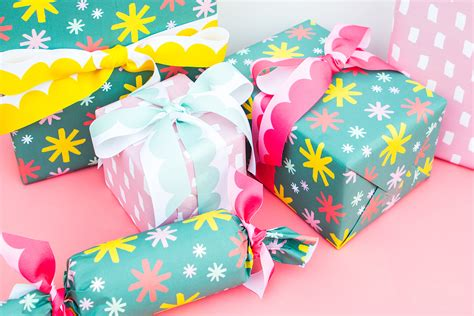 custom printed gift wrap and ribbon sarah hearts