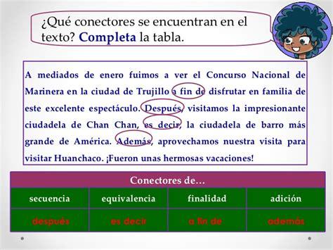 con la secuencia de los libros de texto de los alumnos los conectores l 243 gicos los