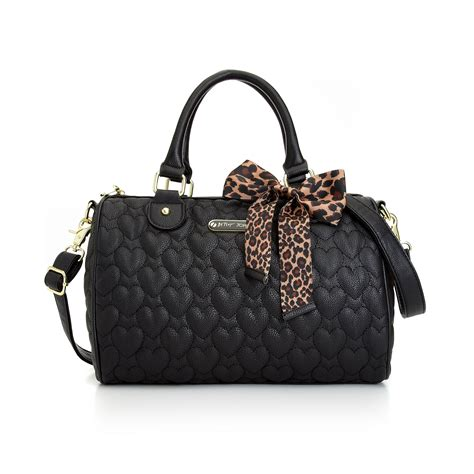 Betsey Johnson Quilted Satchel by Lyst Betsey Johnson Quilted Satchel In Black