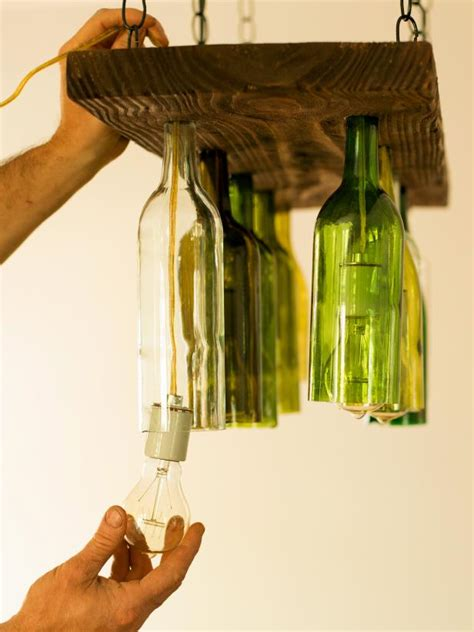 How To Make A Chandelier From Old Wine Bottles How Tos Diy Bottle Chandelier Diy