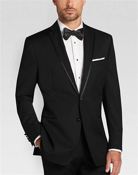 mens wear house calvin klein black slim fit tuxedo men s tuxedos men s wearhouse