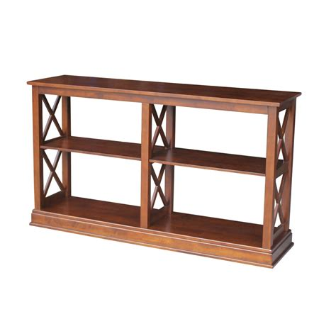 international concepts hton sofa server table with shelves