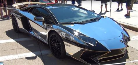 chrome lamborghini 2016 lamborghini aventador sv gets chrome gold wrap for