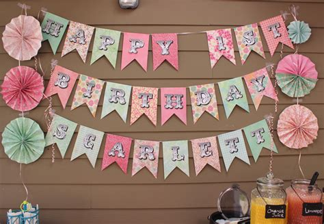 How To Make Paper Banners - 15 adorable diy birthday banners