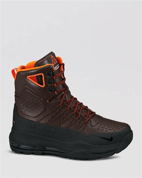 nike zoom superdome waterproof boots in brown for lyst