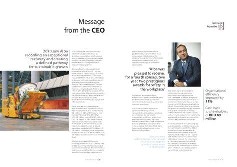 Annual Report Letter From Board President alba annual report 2010