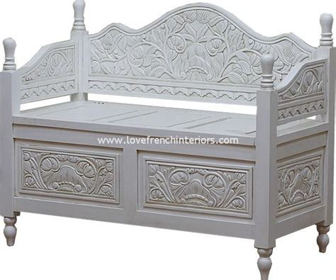 white monks bench monks bench with storage in antique white