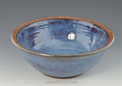 Handmade Pottery Bowl - handmade pottery 10 quot serving bowl smokey blue