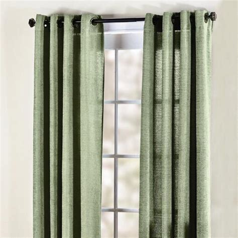 sage curtains drapes sage grommet top chenille curtain panel christmas tree