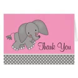 pink elephant thank you cards zazzle
