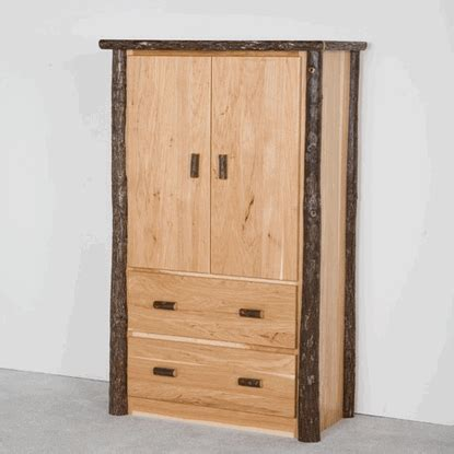 hickory armoire viking hickory log armoire