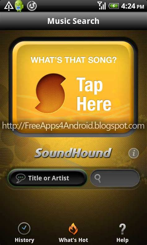 midomi android soundhound v2 9 5 apk free android apps