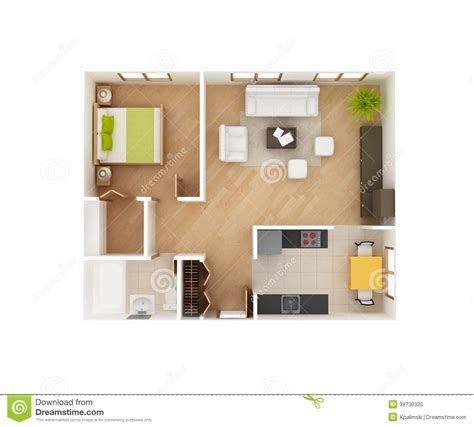 Rambler Floor Plans by Basic 3d House Floor Plan Top View Stock Photo Image