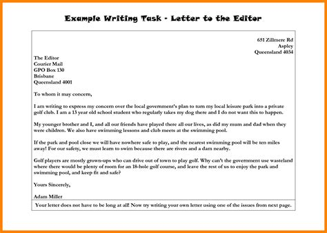 8 exles of letters to the editor fancy resume
