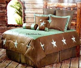 western turquoise star cowboy comforter bedding set ebay