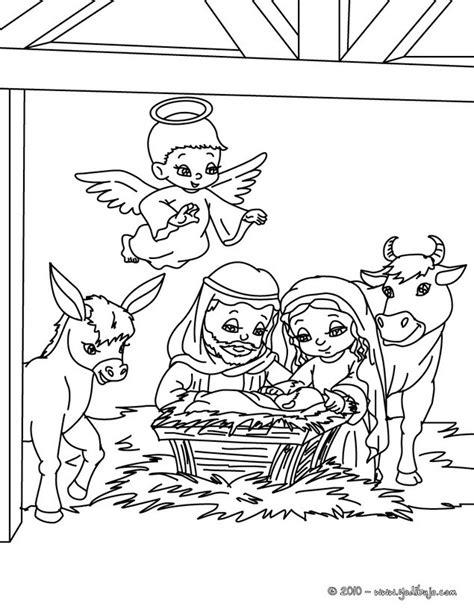 imagenes para pintar sobre el nacimiento de jesus dibujos para colorear belen navide 241 o es hellokids com