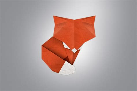 Origami Fox - fox origami fox raposa