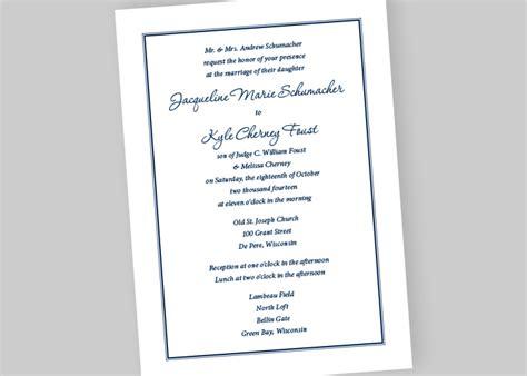 Wedding Invitations Wi by Wedding Invitations Appleton Wi Wedding Invitation Sle