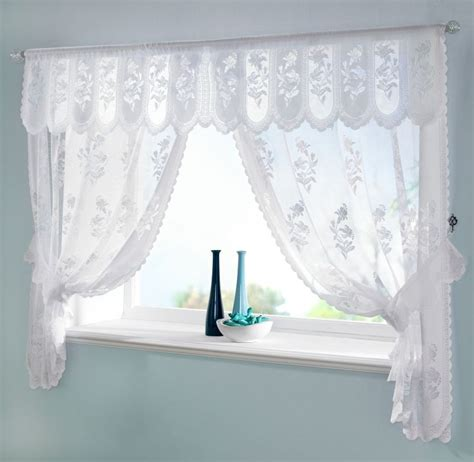 curtains for a small bathroom window 6 styles of white lace curtains