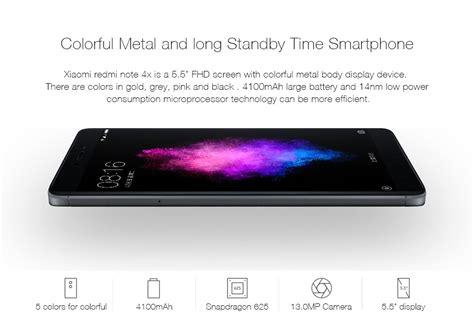 Xiaomi Note 4x Ram 3 Gb Rom 16 Gb Gold Berkualitas xiaomi redmi note 4x 3gb ram 32gb rom smartphone black