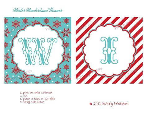 Birthday Card Template Winter Onederland by Printable Banners Templates Free Inviting Printables
