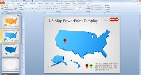 Free Us Map Powerpoint Template Free Powerpoint Templates Slidehunter Com Powerpoint Us Map Template Free