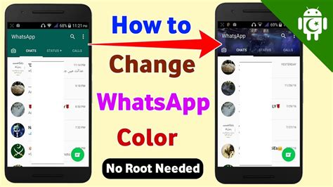 whatsapp themes root how to change whatsapp theme color no root needed youtube