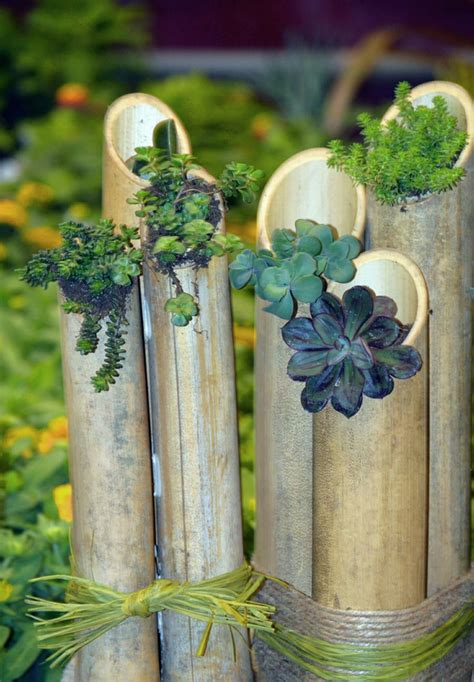 bambus deko ein exotisches flair fuer den garten
