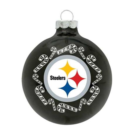 nfl pittsburgh steelers traditional glass ball ornament