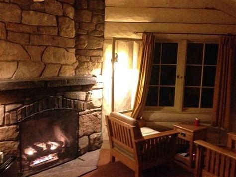 inside the rim cabin with fireplace picture of bright