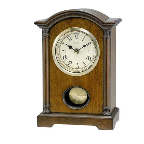 Bulova Table Clock by Bulova Dalton Pendulum Table Clock With Westminster Chime