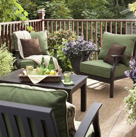 patio discount patio furniture sets green and brown