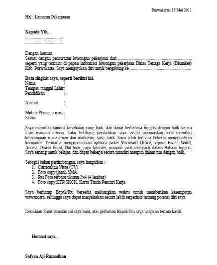 cara membuat lamaran kerja ms word membuat surat lamaran pekerjaan curriculum vitae adjie