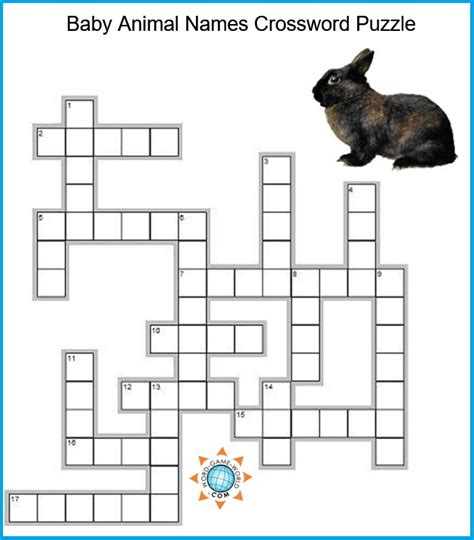 printable crossword puzzle animals animal crossword puzzles
