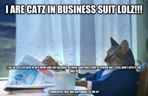 Cat In Suit Meme - livememe com sophisticated cat