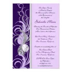 quinceanera invitation templates purple and silvery custom quinceanera invitations 5 quot x 7