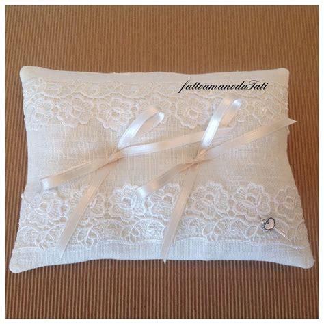 cuscino per le fedi cuscino per le fedi in lino bianco con pizzo macram 232 c