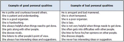 essay describing personal qualities
